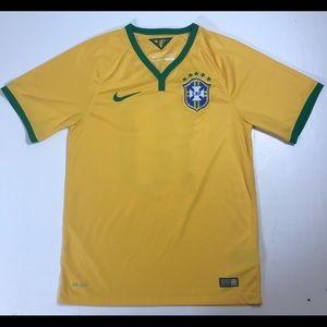 Nike Dri Fit Brazil soccer jersey mens Small #10